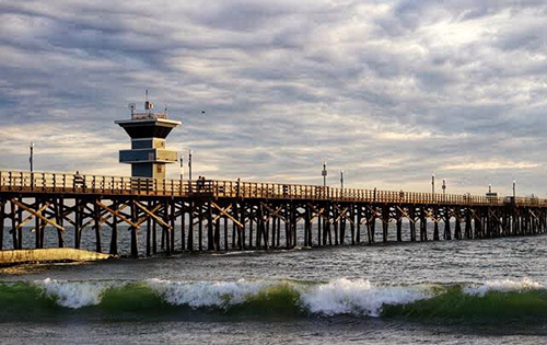 Pier with waves